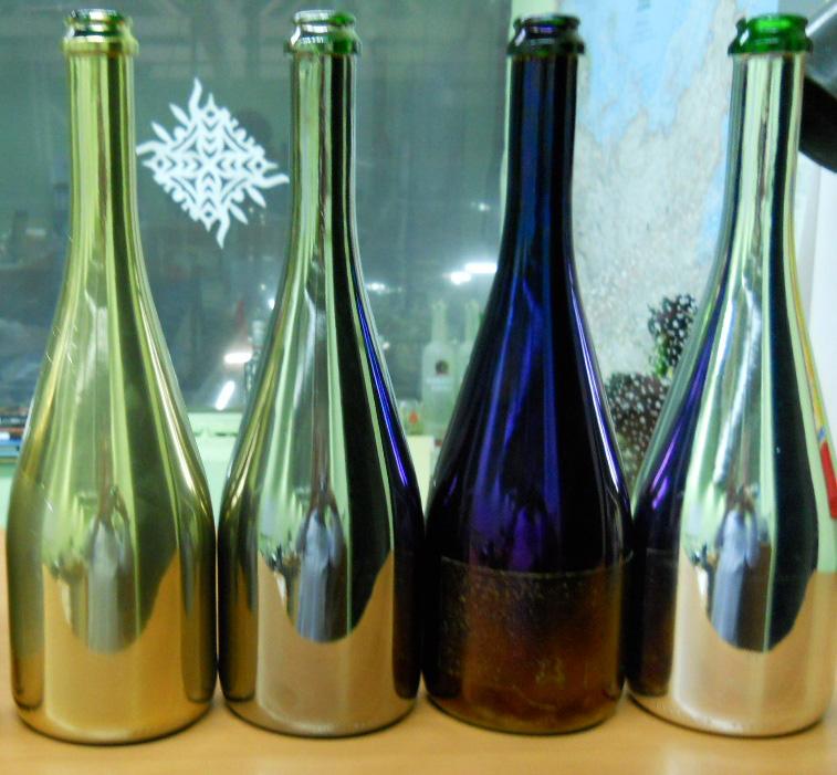 Бутылки с зеркальным покрытием, декорирование бутылки, способы декорирования бутылки, декор стеклянных изделий, декорирование стеклоизделий, декорирование бутылки для алкогольной продукции, декорирование бутылки для алкоголя, шелкография, шелкотрафаретная печать, шелкография на бут