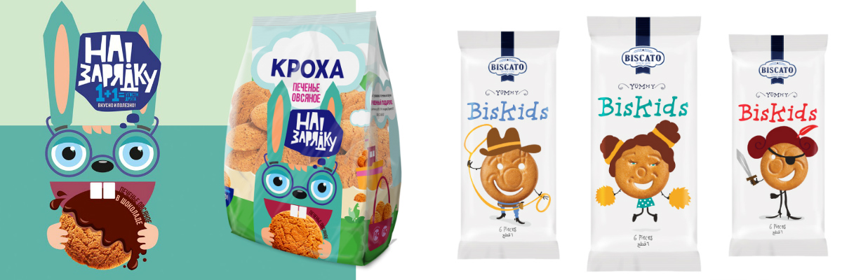 дизайн упаковки печенья - детский дизайн