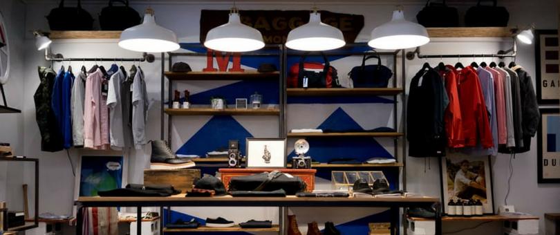 зонирование магазина одежды и обуви