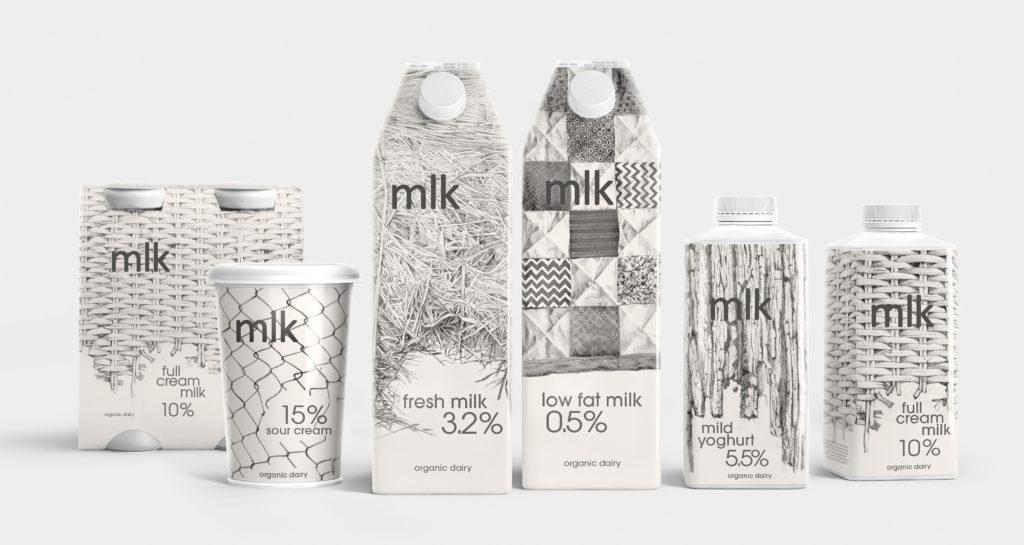 Оригинальная упаковка для молока