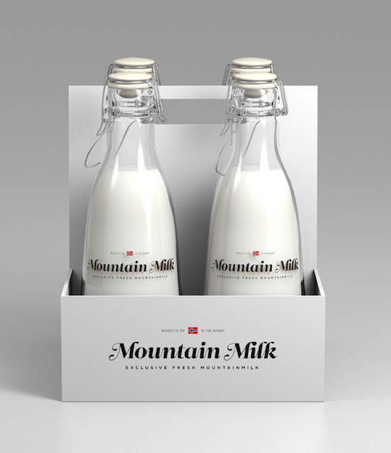 Дизайн упаковки молока для премиум-сегмента