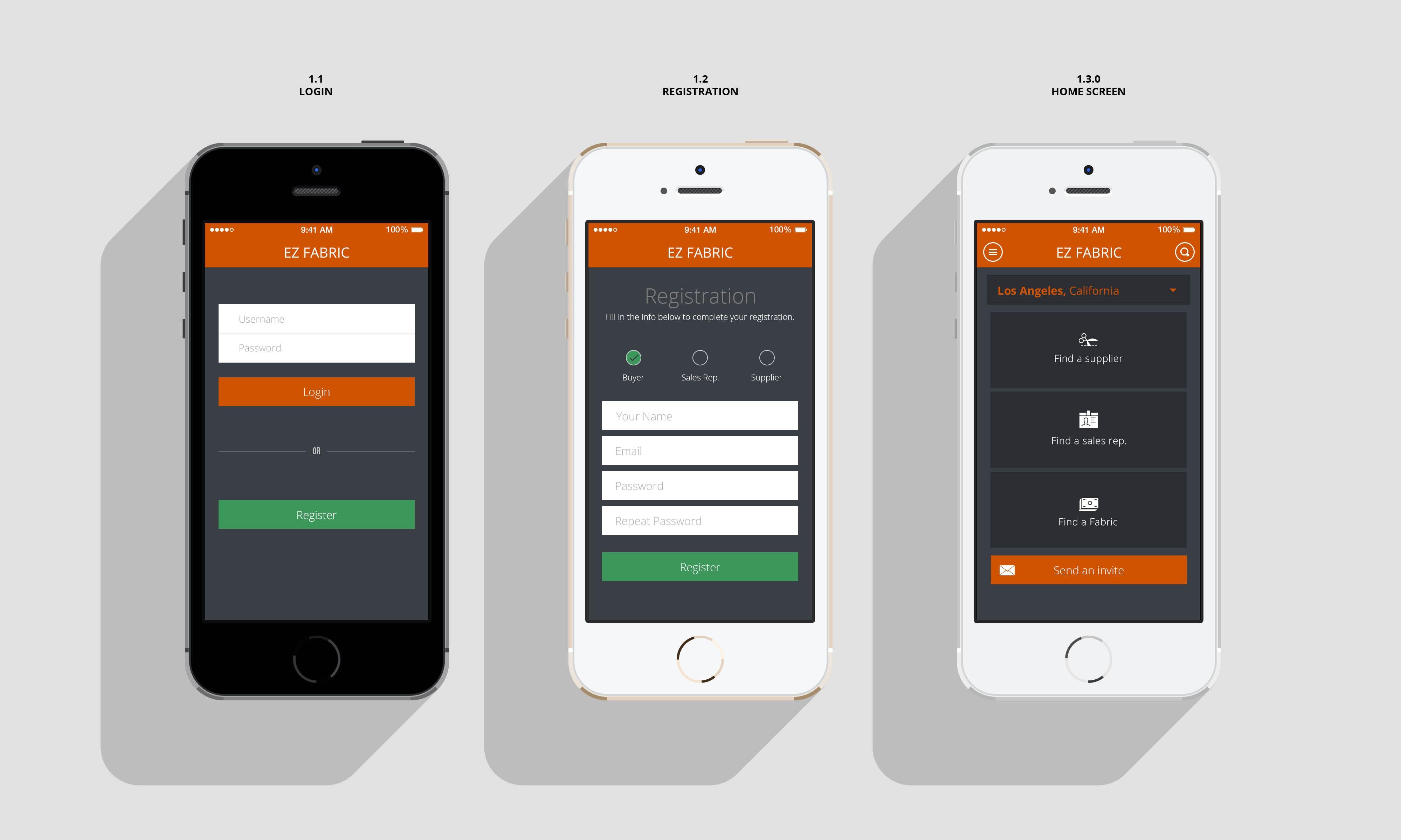 Разработка дизайна приложения