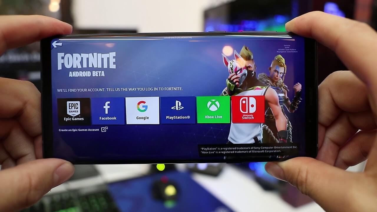 Эффектный лендинг способствовал продвижению мобильной игры Fortnite