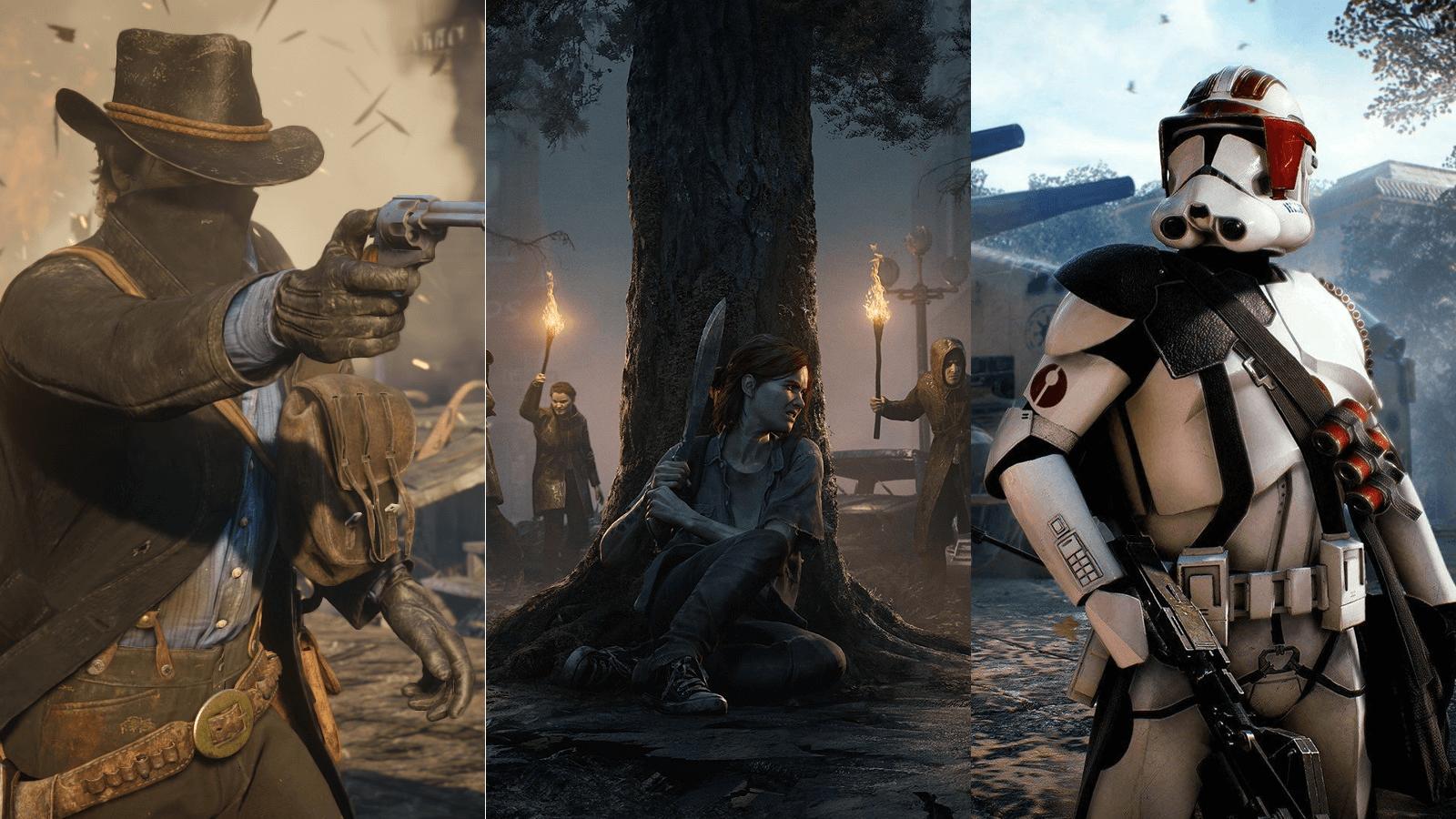 Визуальный стиль игр Red Dead Redemption 2, The Last of Us 2 и Star Wars: Battlefront 2