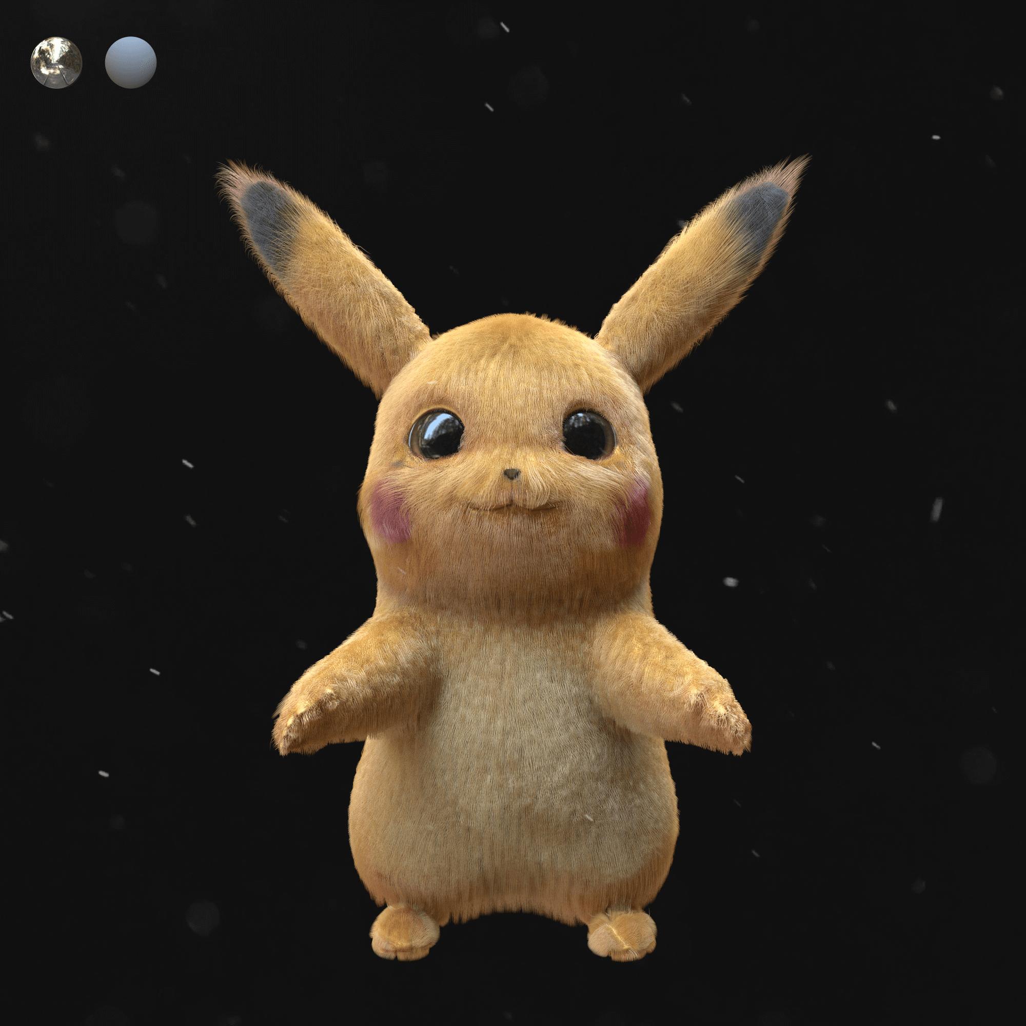 узнаваемый стиль Пикачу из Pokemon