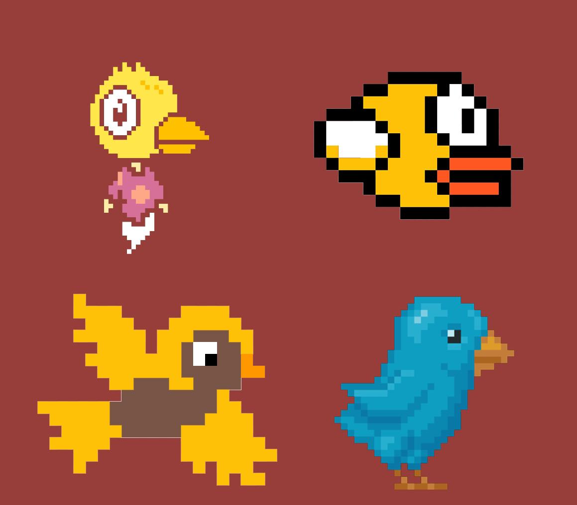 концепт арты flappy bird